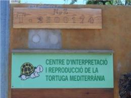 Cartel de entrada del centro de interpretación y cría.