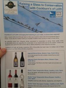 Cata de vinos de Cochburns of Leith