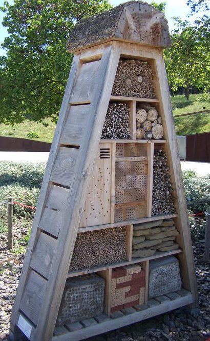 Hotel de insectos en el Jardín Botánico de Barcelona