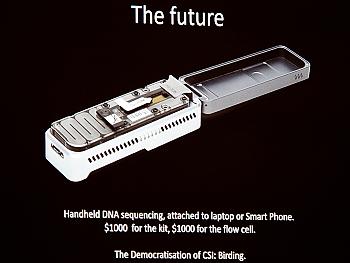 Flipante dispositivo para secuenciar el ADN en cualquier momento. Ai, que el futuro ya lo tenemos aquí!!