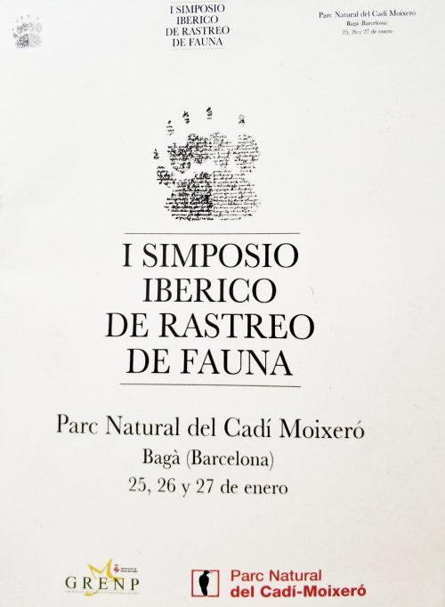 Cartel I Simposio Ibérico de Rastreo de Fauna en Bagà