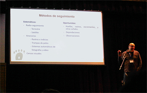 Santiago Palazón showing us which were the following methods used in the Pyros Project.